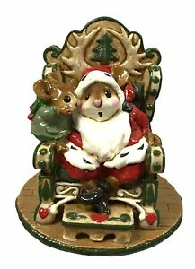 Wee Forest Folk M-203 A Christmas Wish - Green Chair Retired 1995 with WFF Box