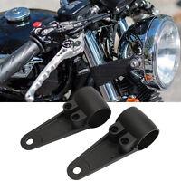 35mm-41mm Black Fork Headlight Mount Bracket For Suzuki Harley Cafe Racer Bobber