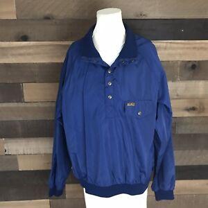 azul Eddie para 2 Bauer Vintage 1 hombre de grande Chaqueta cortaviento botón 5F6qH4