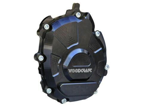 Woodcraft stator cover left side 2015-18 Yamaha R1 With Stainless slider