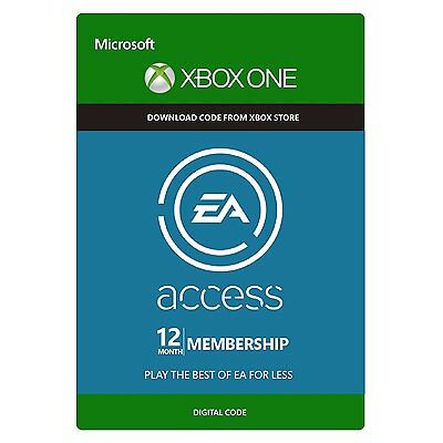EA ACCESS 12 MONTH MEMBERSHIP XBOX ONE KEY CODE FAST DISPATCH - WORKS WORLDWIDE