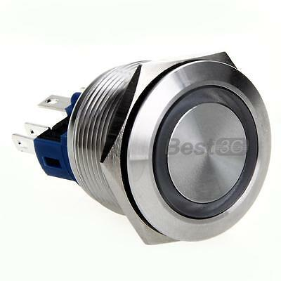 Interruttore a Pulsante Reset in Acciaio Inox con LED 22mm X Controlli Elettrici