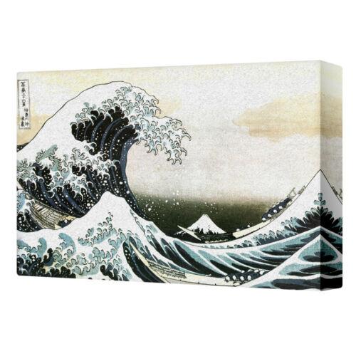 16x24 The Great Wave Of Kanagawa Katsushika Hokusai Art Stretched Canvas