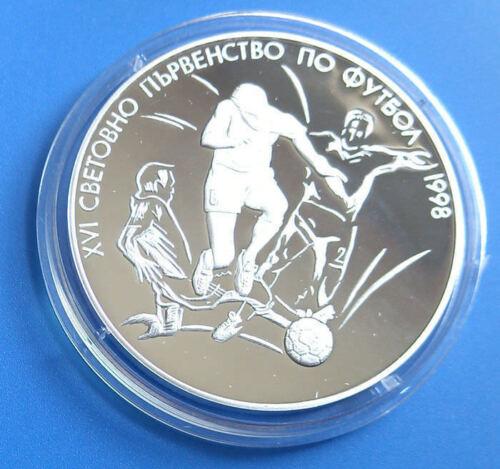 MINT Three soccer players BULGARIA 1000 leva 1997 16th World Cup FRANCE COA