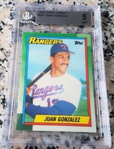 JUAN-GONZALEZ-1990-Topps-TIFFANY-SP-Rookie-Card-RC-BGS-9-MINT-Rangers-434-HRs