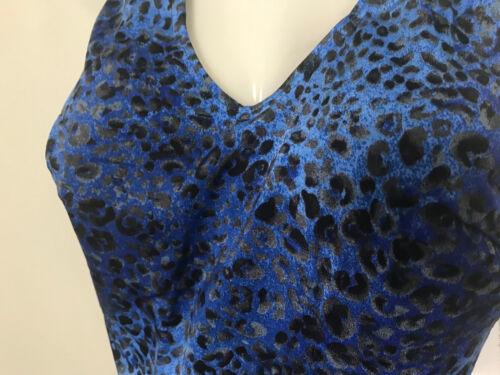 Formbadeanzug Badeanzug Schößchen Blau Gr 46 52 54 Cup B Leopard Solar Neu