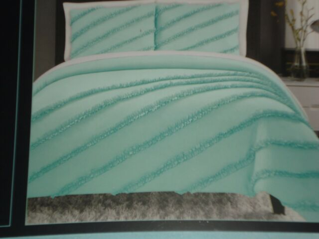 CYNTHIA ROWLEY COMFORTER SET QUEEN AQUA NWT BEAUTIFUL
