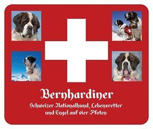 NEU: BERNHARDINER - ST. BERNHARDSHUND - MAUSPAD - SCHWEIZ - MOUSEPAD