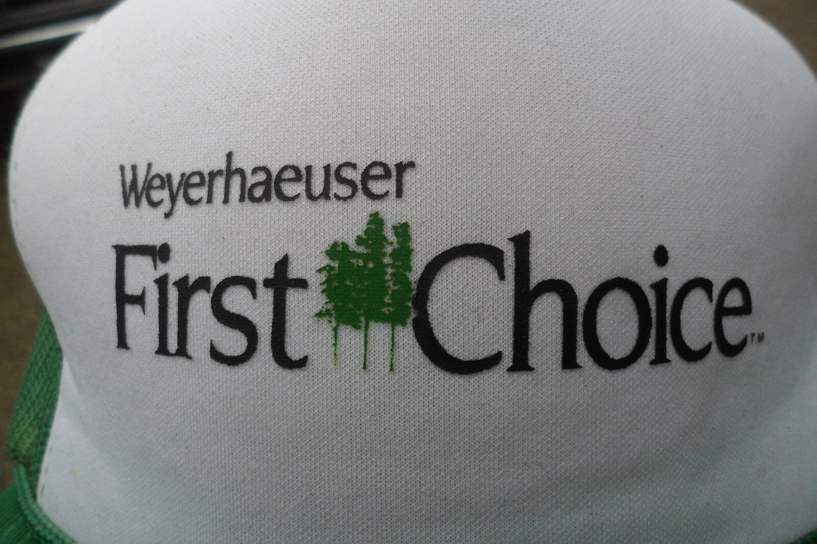 Weyerhaeuser FIRST CHOICE inc  hat company inc CHOICE lumber timberlands f7aa3a