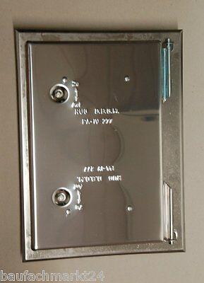 RuG Kamintüre Kamintür Vierkantverschluss verzinkt feuerverzinkt mit Schlüssel