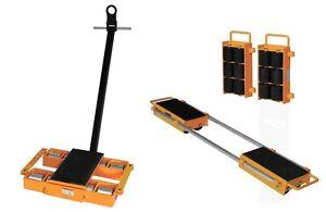 W Amp J Set Of 24ton Machinery Skates Moving Skates New Ebay