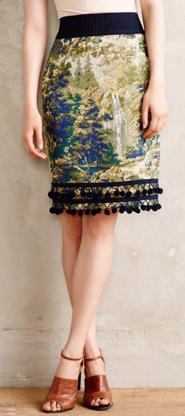 New Anthropologie Maeve Pommed Pencil Skirt Maeve 2