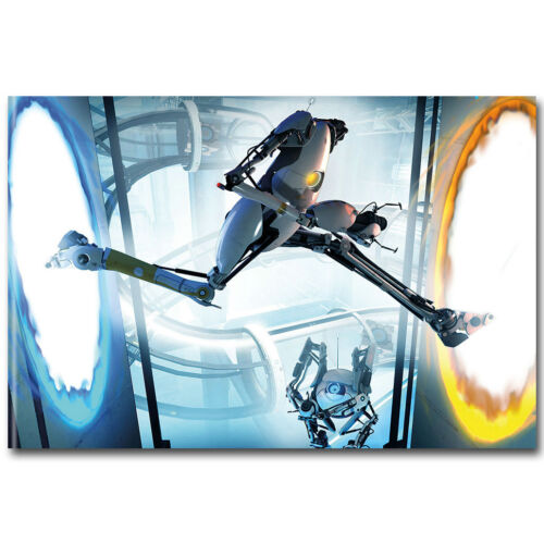 Portal 2 Hot Game Silk Poster 12x18 24x36 inch GLaDOS Chell 001