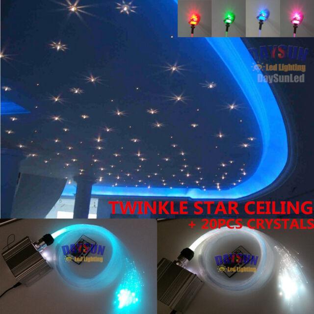 Led fiber optic star twinkle ceiling light engine 10w rgbw 28key led twinkle star ceiling light 150pcs 075mm 20pcs 1mm fiber 20pcs crystals aloadofball Images