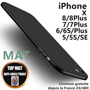 Anti-choc-Coque-Housse-Silicone-Mat-Case-Cover-iPhone-6-7-8-Plus-5-SE-X-XR-XSMAX