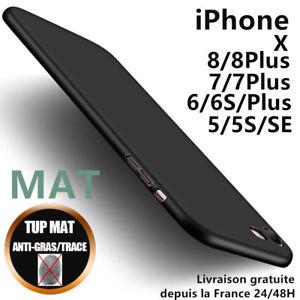 Anti-choc-Coque-Housse-Silicone-Etui-Gel-Mat-Case-Cover-iPhone-6-7-8-Plus-X-5-SE