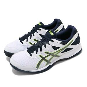 Asics Gel-Task 2 White Black Green Mens Volleyball Shoes 1071A037-101