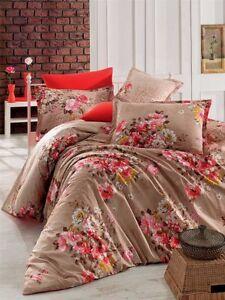 Bettwäsche 220x240 cm Bettgarnitur Bettbezug Baumwolle Kissen 6 tlg IREM GR