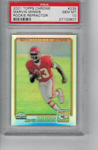 2001-Topps-Chrome-Rookie-Refractor-235-Marvin-Minnis-RC-Ser-847-999-PSA-10