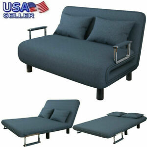 Convertible-Sofa-Bed-Fold-Arm-Double-Chair-Sleeper-Leisure-Recliner-Lounge-Couch
