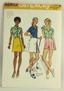 1970-039-s-Sewing-Pattern-Simplicity-5663-Misses-amp-Women-Blouse-Skirt-Shorts-UNCUT