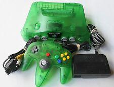 Jungle Green Nintendo 64 N64 Console System Funtastic Atomic Clear Bundle Rare