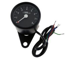 Compte-Tours-Moto-Rond-Electronique-D-60-MM-Noir-Blanc-8-000-Et-Min