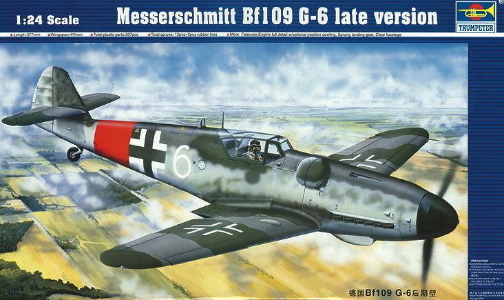 Trumpeter 02408 - - - 1 24 Messerschmitt Bf 109 G-6 späte Version - Neu    Überlegene Qualität  79aff5