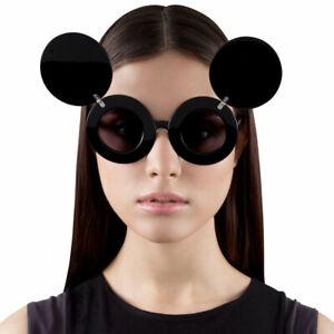 fae1c06399c Jeremy Scott x Linda Farrow JS Mickey Mouse Round Sunglasses Black ...