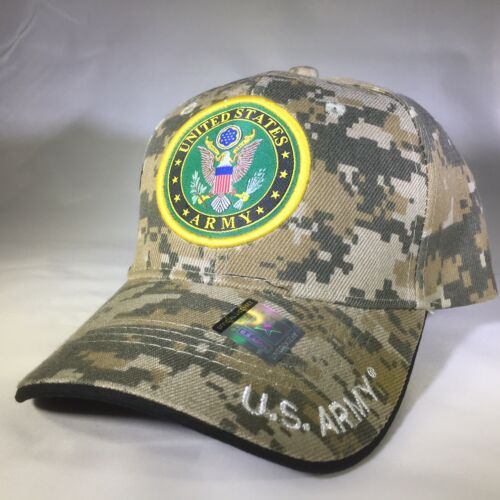 US ARMY Desert Digital #6 Officially Licensed Insignia Baseball Cap 3D