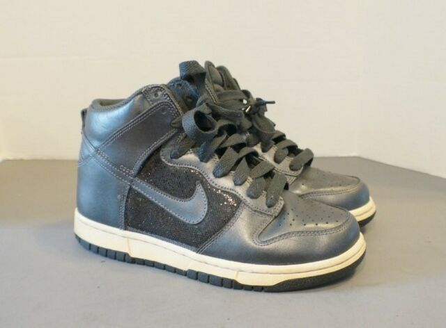 sports shoes 40e9c bf2f2 ... france 2012 nike dunk high 6.0 womens sz us 6 grey black sparkle white  342257 6030f