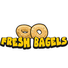 Fresh Bagels Concession Decal Sign Cart Trailer Stand Sticker Equipment