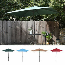 Outsunny 10FT Patio Umbrella Sunshade Canopy Rectangle with Crank