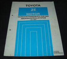 Werkstatthandbuch Abgaskontollsystem Toyota Starlet EP 71 L Corolla E9 / EE 90!