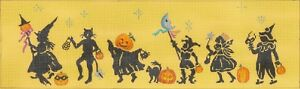 Needlepoint-HandPainted-Dede-HALLOWEEN-Parade-17x5