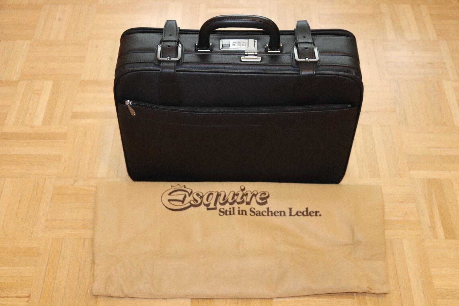 Esquire Aktenkoffer in schwarz NEU und ECHTLEDER   Kostengünstig    Online-verkauf    Sehr gelobt und vom Publikum der Verbraucher geschätzt