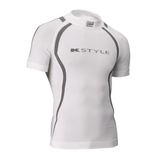 OMP KS Sommer Kurzarm Shirt weiß schwarz