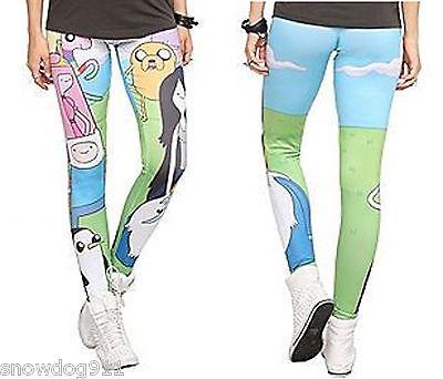NEW Adventure Time with Finn & Jake Marceline Leggings Yoga Pants JR. Sz: M   XL