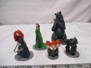 Disney-Pixar-Brave-figures-Marida-Queen-Elinor-triplets-Hamish-Hubert-amp-Harris