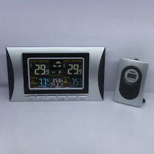 Wireless Colorful Digital Thermometer Hygrometer Barometer Weather Station Clock