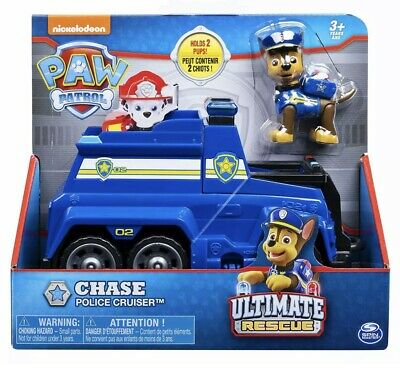 Holds 2 Pups! CHASE Police Cruiser Paw Patrol ULTIMATE RESCUE