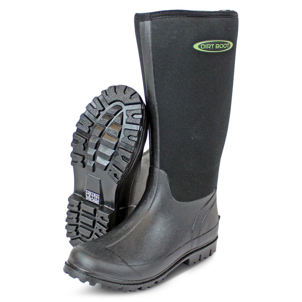 Suciedad bota ® Neopreno Wellington Muck bota para Mujer Hombre Negro