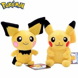 20CM Pokemon Stuffed Pikachu Plush Doll Short Stuffed Toy Birthday Gift For Kids