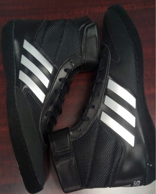 new arrival 88f39 ab5b9 New Men s Adidas Combat Speed 5 Black Silver Wrestling Shoes, In Retail Box