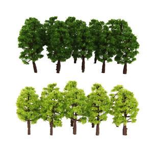 40pcs Green Model Tree 1/150 Scale Street Park Train Railway Scenery Layout