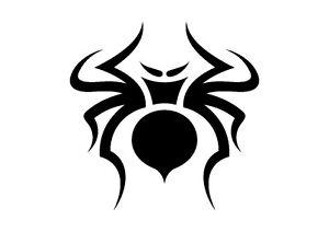 Curvy-Tribal-Spider-Stencil-350-micron-Mylar-not-thin-stuff-TaT0110
