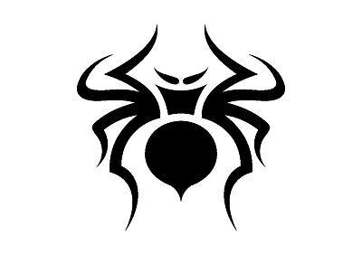 Curvy Tribal Spider Stencil 350 micron Mylar not thin stuff #TaT0110
