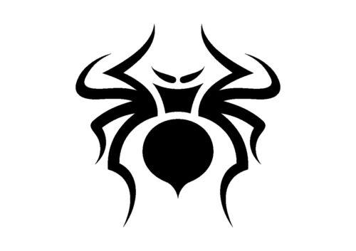 350 micron Mylar not thin stuff #TaT0110 Curvy Tribal Spider Stencil