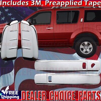 FOR 2005-06 07 08 09 2010 11 2012 NISSAN PATHFINDER CHROME 4 DOOR HANDLE COVERS