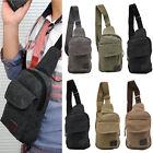 Men's Canvas Sling Messenger Shoulder Bag Chest Pack Sports Backpack Hiking New